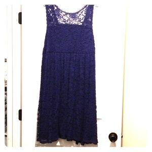 Torrid navy lace dress